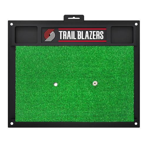 "20"" x 17"" Black and Green NBA Portland Trail Blazers Golf Hitting Mat - IMAGE 1"