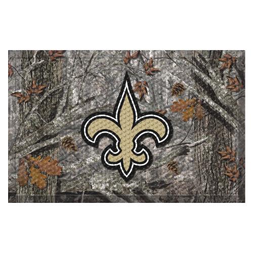 """19"""" x 30"""" Gray and Gold NFL New Orleans Saints Shoe Scraper Door Mat - IMAGE 1"""