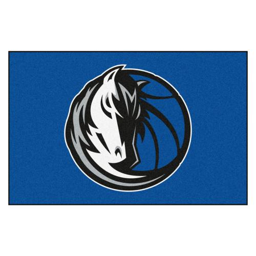 "19"" x 30"" Blue and White NBA Dallas Mavericks Starter Door Mat - IMAGE 1"