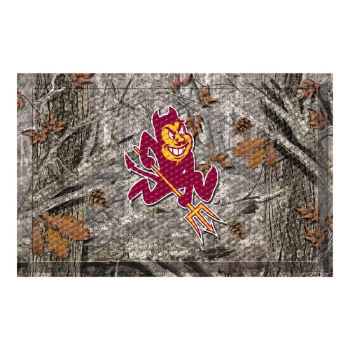 "19"" x 30"" Gray and Red NCAA Arizona State University Sun Devils Shoe Scraper Door Mat - IMAGE 1"
