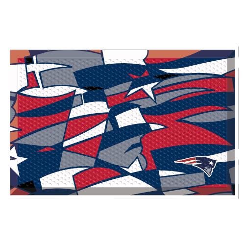 "Navy Blue and Red NFL New England Patriots X-Fit Shoe Scraper Doormat 19"" x 30"" - IMAGE 1"