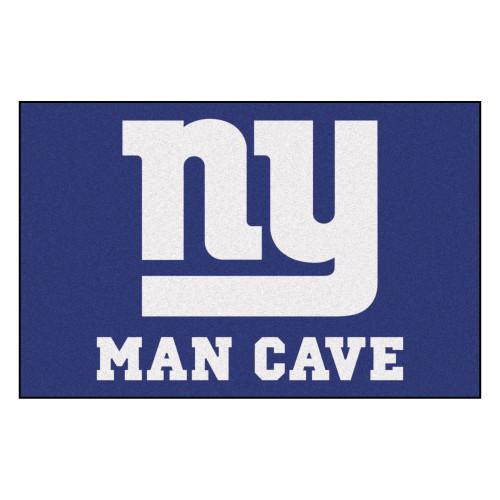 "19"" x 30"" Blue and White NFL New York Giants Man Cave Starter Rectangular Mat Area Rug - IMAGE 1"