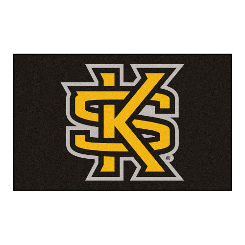 """59.5"""" x 94.5"""" Brown and Yellow NCAA Kennesaw State University Owls Area Rug - IMAGE 1"""