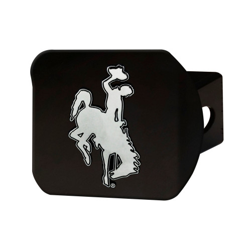NCAA University of Wyoming Cowboys  Black Hitch Cover Automotive Accessory - IMAGE 1