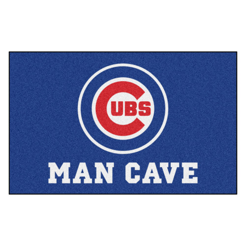 5' x 8' Blue and White Contemporary MLB Chicago Cubs Rectangular Area Rug - IMAGE 1