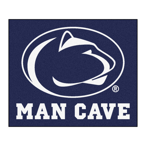 4.9' x 5.9' Navy Blue NCAA Penn State Nittany Lions Man Cave Tailgater Rectangular Area Rug - IMAGE 1