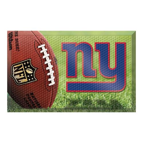 """19"""" x 30"""" Green and Blue NFL New York Giants Shoe Scraper Door Mat - IMAGE 1"""
