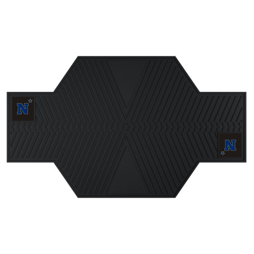 """42"""" x 82.5"""" Black and Blue U.S. Naval Academy Motorcycle Parking Mat - IMAGE 1"""