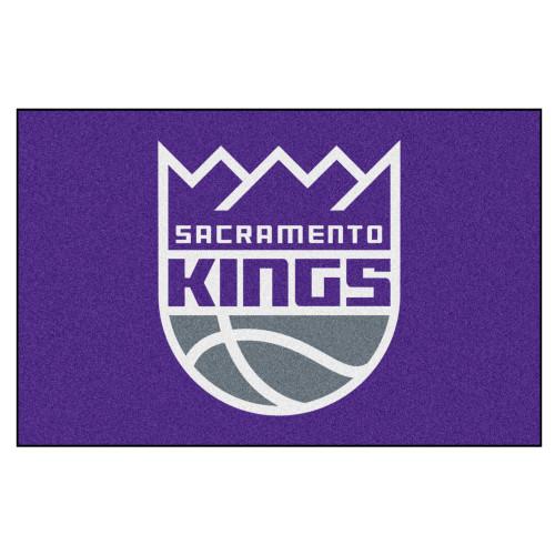 "19"" x 30"" Gray and White NBA ""Sacramento Kings"" Starter Mat Rectangular Area Rug - IMAGE 1"