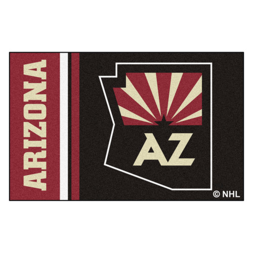 """19"""" x 30"""" Black and Red NHL Arizona Coyotes Starter Mat Area Rug - IMAGE 1"""