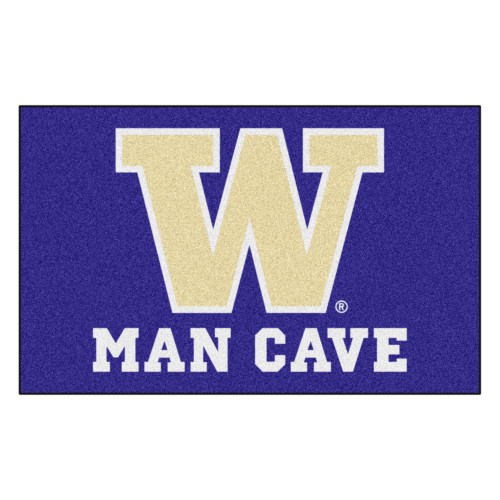 "59.5"" x 94.5"" Purple and White NCAA University of Washington Huskies Outdoor Tailgater Area Rug - IMAGE 1"