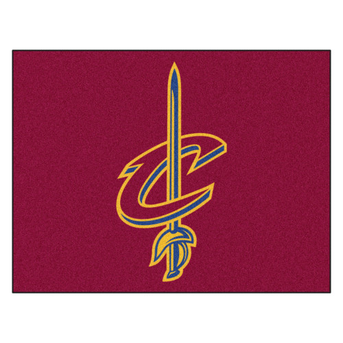 """33.75"""" x 42.5"""" Red and Blue NBA Cleveland Cavaliers Rectangular All-Star Mat Outdoor Area Rug - IMAGE 1"""