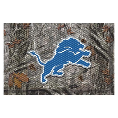 "19"" x 30"" Gray and Blue NFL Detroit Lions Shoe Scraper Door Mat - IMAGE 1"
