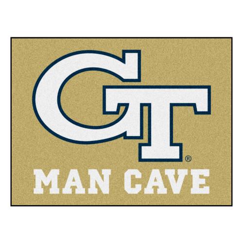 """33.75"""" x 42.5"""" Beige NCAA Georgia Tech Yellow Jackets, Ramblin' Wreck Starter Door Mat - IMAGE 1"""