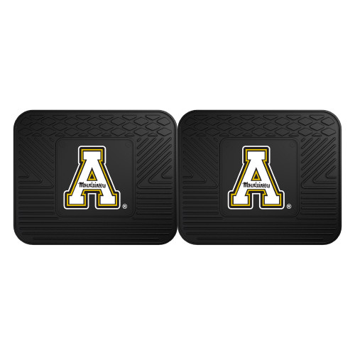 """Set of Two Black NCAA Appalachian State Mountaineers Car Floor Mats 14"""" x 17"""" - IMAGE 1"""