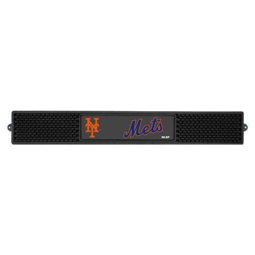 "3.25"" x 24"" Black and Gray MLB New York Mets Drink Mat - IMAGE 1"
