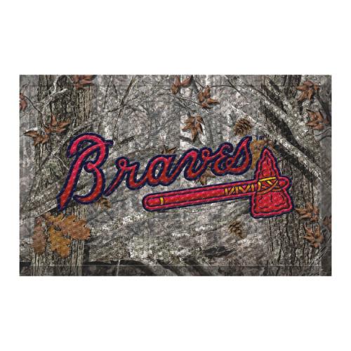 "Red and Gray MLB Atlanta Braves Shoe Scraper Doormat 19"" x 30"" - IMAGE 1"