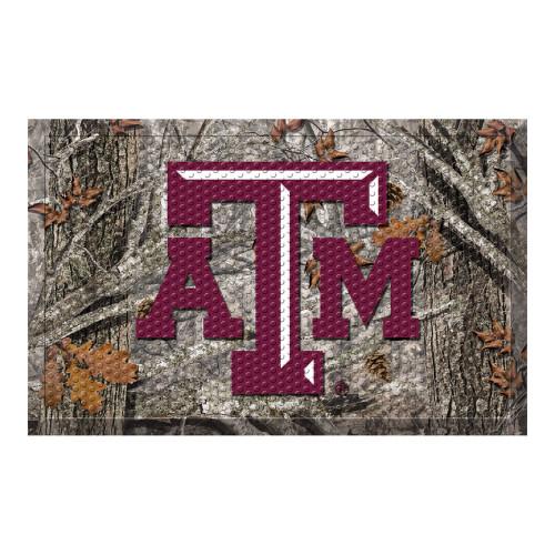 "19"" x 30"" Gray and Red NCAA Texas A&M University Aggies Scraper Rectangular Door Mat - IMAGE 1"