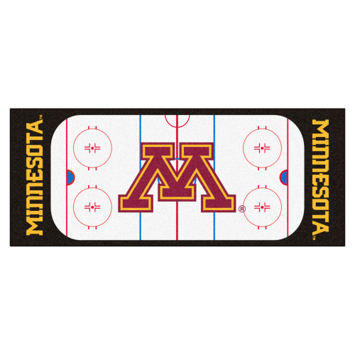 """30"""" x 72"""" Black and Red NCAA University of Minnesota Golden Gophers Rink Mat Area Rug Runner - IMAGE 1"""