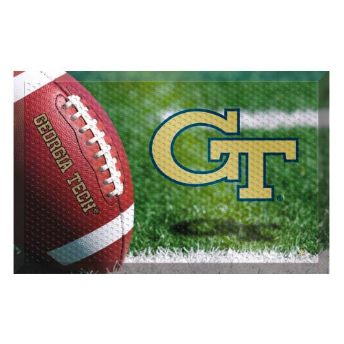 "Red and Gold NCAA Georgia Tech Yellow Jackets Shoe Scraper Doormat 19"" x 30"" - IMAGE 1"