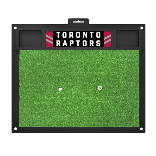 "17"" x 20"" Black and Green NBA Toronto Raptors Golf Hitting Mat - IMAGE 1"
