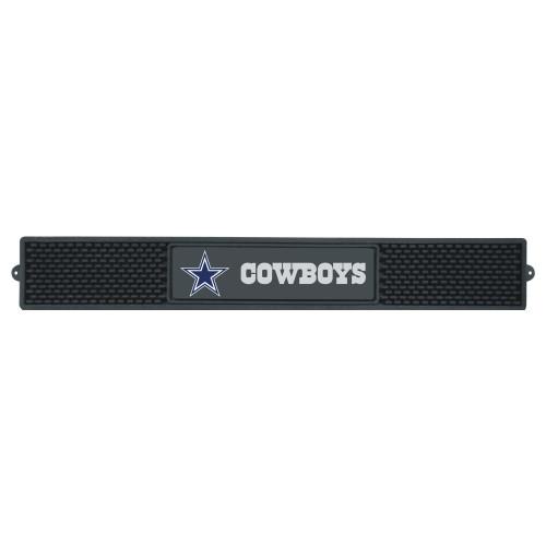 "3.25"" x 24"" Black NFL Dallas Cowboys Drink Mat Tailgate Accessory - IMAGE 1"