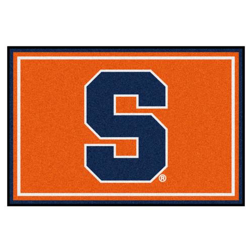 5' x 8' Orange and Blue NCAA Syracuse University Rectangular Area Rug - IMAGE 1