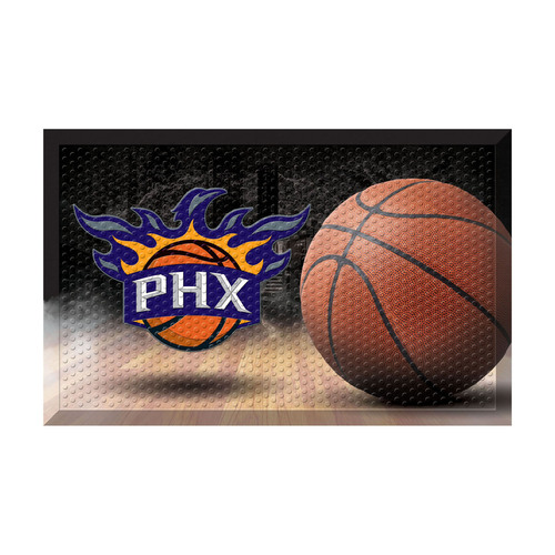 "19"" x 30"" Brown and Black NBA Phoenix Suns Shoe Scraper Doormat - IMAGE 1"