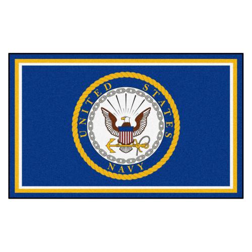 """44"""" x 71"""" Blue U.S. Navy Rectangular Mat Area Rug - IMAGE 1"""