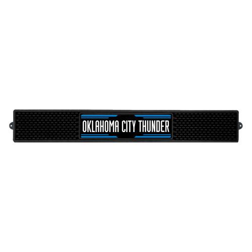 "3.25"" x 24"" Black and White NBA Oklahoma City Thunder Drink Mat - IMAGE 1"