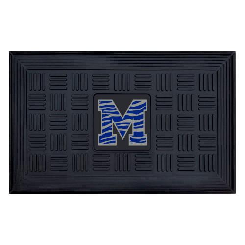 "19.5"" x 31.25"" Black and Blue NCAA University of Memphis Tigers 3-D Team Rectangular Door Mat - IMAGE 1"