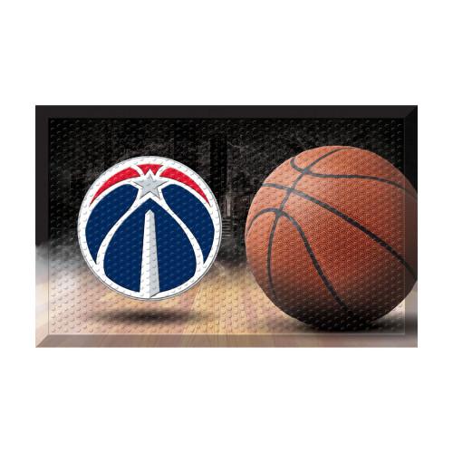 "19"" x 30"" Brown and Black NBA Washington Wizards Shoe Scraper Doormat - IMAGE 1"