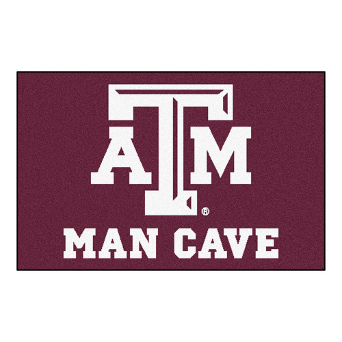 """19"""" x 30"""" Maroon Red NCAA Texas A and M University Aggies Man Cave Starter Mat - IMAGE 1"""