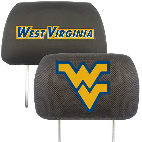 NCAA West Virginia University Mountaineers Head Rest Cover Automotive Accessory - IMAGE 1