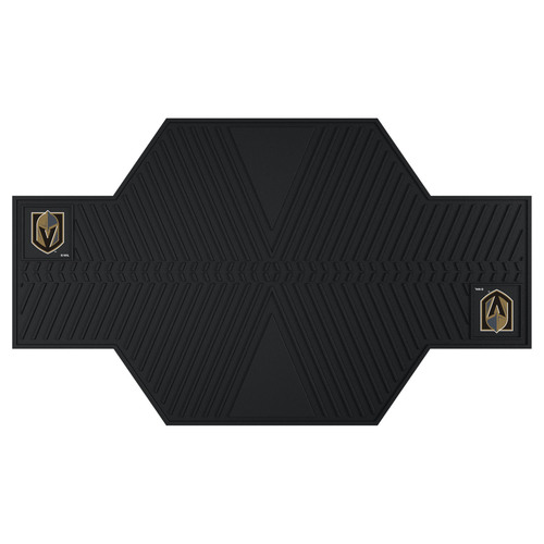 """42"""" x 82.5"""" Black and Brown NHL Vegas Golden Knights Motorcycle Parking Mat - IMAGE 1"""