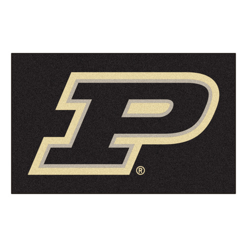 "59.5"" x 94.5"" Black and Beige NCAA Purdue University Boilermakers Ulti-Mat Area Rug - IMAGE 1"