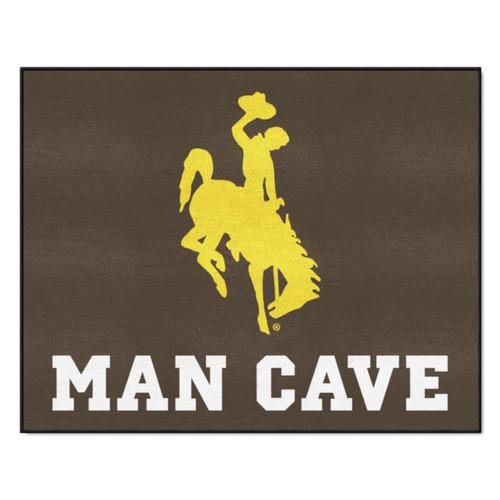 "33.75"" x 42.5"" Brown and Yellow NCAA University of Wyoming Cowboys All-Star Rectangular Door Mat - IMAGE 1"