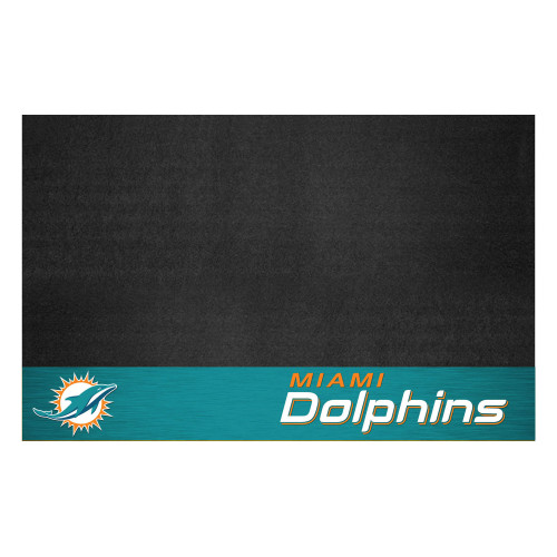 """26"""" x 42"""" Black and Blue NFL Miami Dolphins Grill Mat Tailgate Accessory - IMAGE 1"""