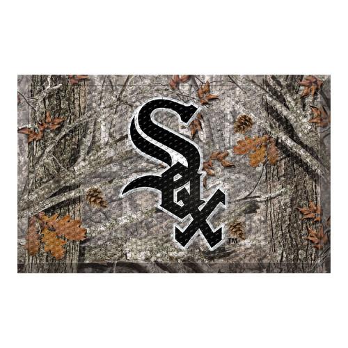 "Black and Gray MLB Chicago White Sox Shoe Scraper Doormat 19"" x 30"" - IMAGE 1"