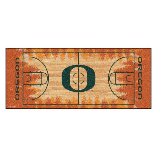 "30"" x 72"" Brown University of Oregon Ducks NCAA Basketball Non-Skid Mat Area Rug Runner - IMAGE 1"