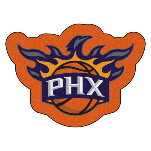 """36"""" x 26.5"""" Orange and White NBA Phoenix Suns Mascot Door Mat - IMAGE 1"""