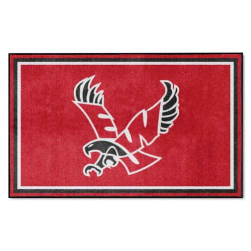 3.6' x 5.9' Red NCAA Eastern Washington University Eagles Plush Area Rug - IMAGE 1