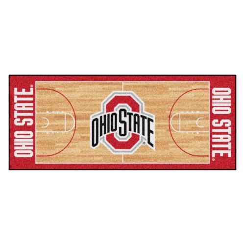 "NCAA Ohio State University Buckeyes Basketball Non-Skid Mat Area Rug Runner 30"" x 72"" - IMAGE 1"