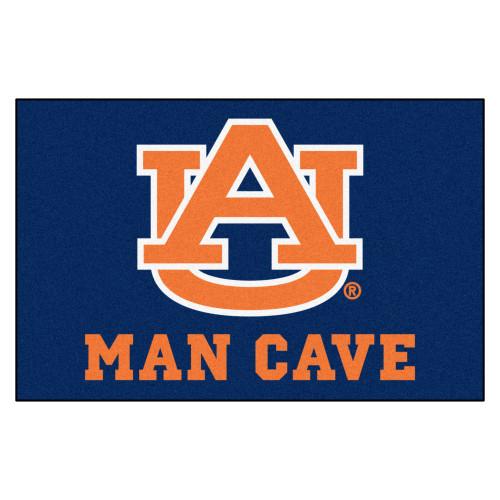 "19"" x 30"" Blue and Orange NCAA Auburn University Tigers Man Cave Starter Door Mat - IMAGE 1"