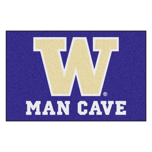 "19"" x 30"" Purple and White NCAA University of Washington Huskies Man Cave Starter Door Mat - IMAGE 1"