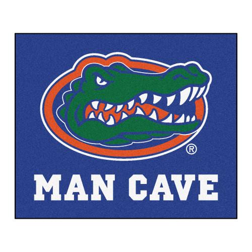 4.9' x 5.9' Blue NCAA University of Florida Gators Man Cave Tailgater Rectangular Area Rug - IMAGE 1