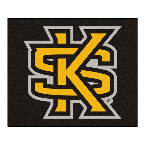 """59.5"""" x 71"""" Brown and Yellow NCAA Kennesaw State University Owls Tailgater Area Rug - IMAGE 1"""