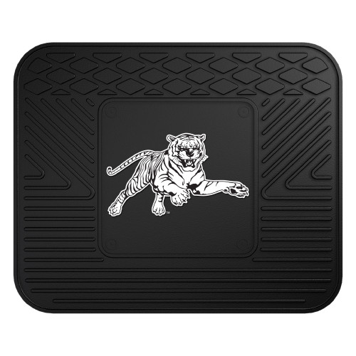 """14"""" x 17"""" Black and White NCAA Jackson State University Tigers Heavy Duty Car Seat Utility Mat - IMAGE 1"""