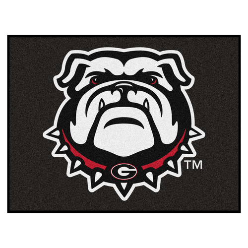 "33.75"" x 42.5"" Black and White NCAA Bulldogs All Star Non-Skid Mat Rectangular Area Rug - IMAGE 1"