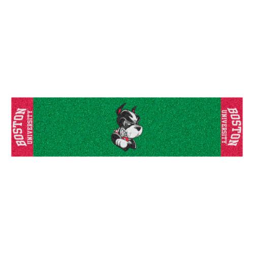 "18"" x 72"" Green NCAA Boston University Terriers Putting Golf Mat - IMAGE 1"